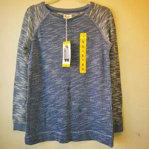 Champion thin knit heathered baseball style blue